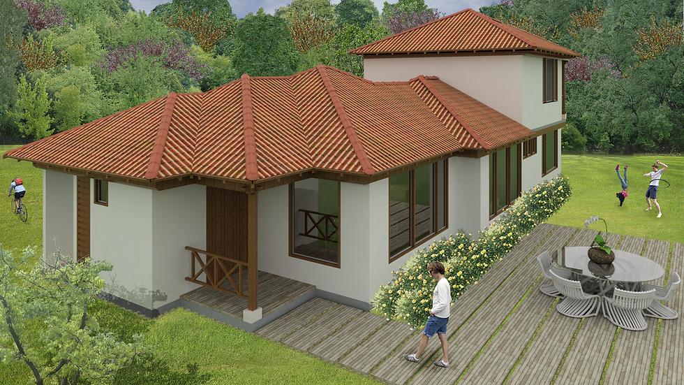 Agradable casa de 2 niveles con 2 habitaciones, 3 baños y terrazas! 3QTW 177