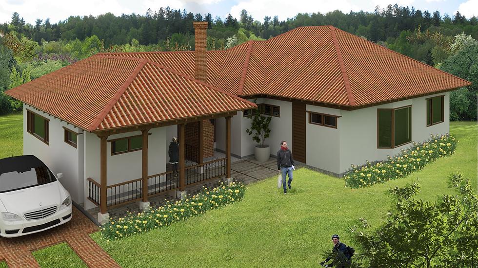 Casa campestre con 4 alcobas, 4 baños y chimenea. 5QA4W-216