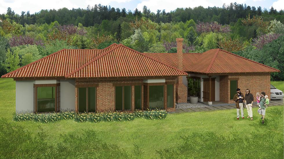 Hermosa casa con 4 habitaciones, 3 baños y chimenea. 4QE- 181