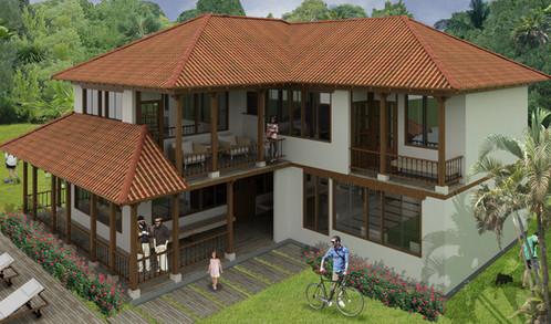 Casa campestre de 2 niveles con 4 habitaciones 4 ba os y for Pisos para casas campestres