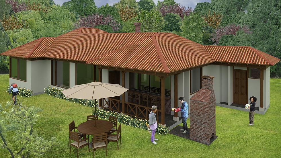 Cómoda casa con 3 alcobas, 3 baños, sala con chimenea, BBQ y horno! 3QE3W-151