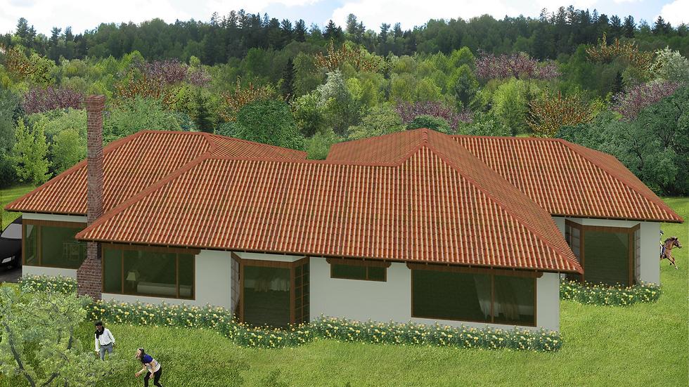 Confortable casa campestre de 3 habitaciones, 3 baños y chimenea. 4QE-181ª