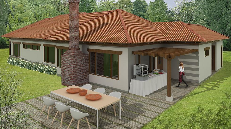 Actrativa casa de 3 habitaciones, 5 baños y chimenea. 5QE5W 215