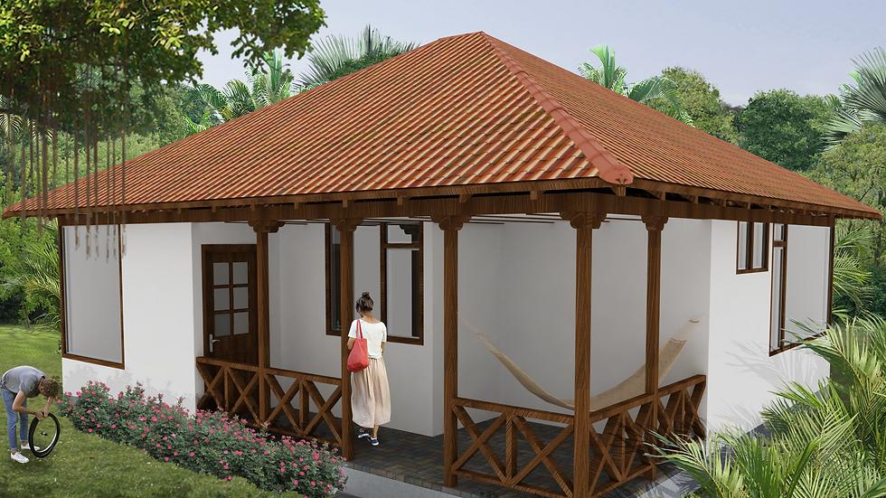 Confortable casa de 2 habitaciones, 1 baño y amplia terraza. 2Q-73