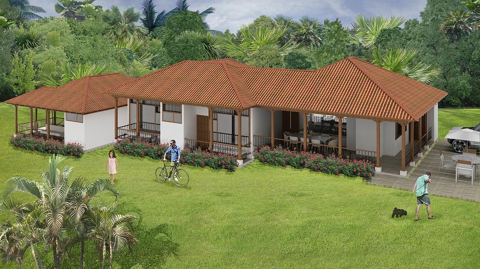 Atractiva casa con 5 habitaciones, todas con terrazas y 6 baños. 5QE6W-277