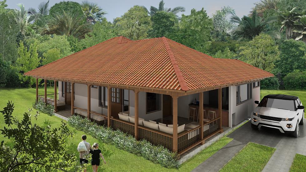 Confortable casa de 2 habitaciones, 2 baños y amplia terraza. 3QE-145k