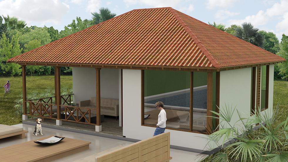 Preciosa casa con 1 habitacion, 1 baño y terraza. 1Q-72