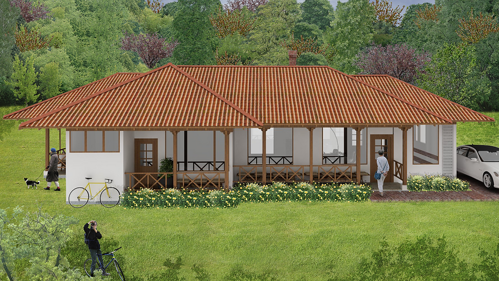 Encantadora casa de 4 habitaciones, 2 baños y terrazas.  3QE-150