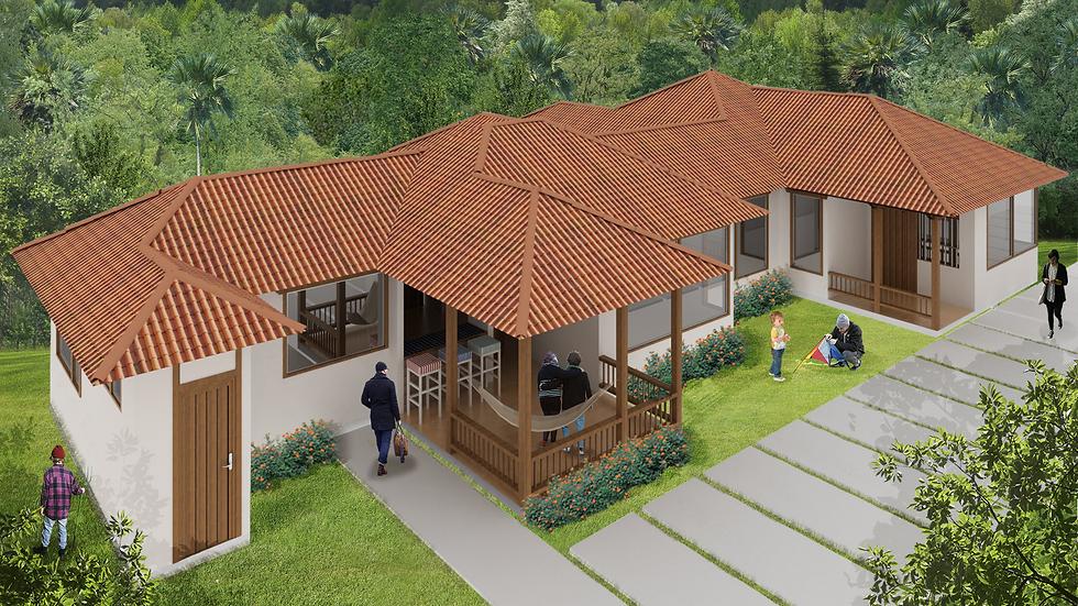 Acogedora casa con 3 habitaciones, 3 baños y múltiples terrazas! 4QE-197 K