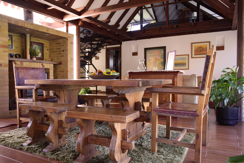 Zona Sala Comedor con Chimenea