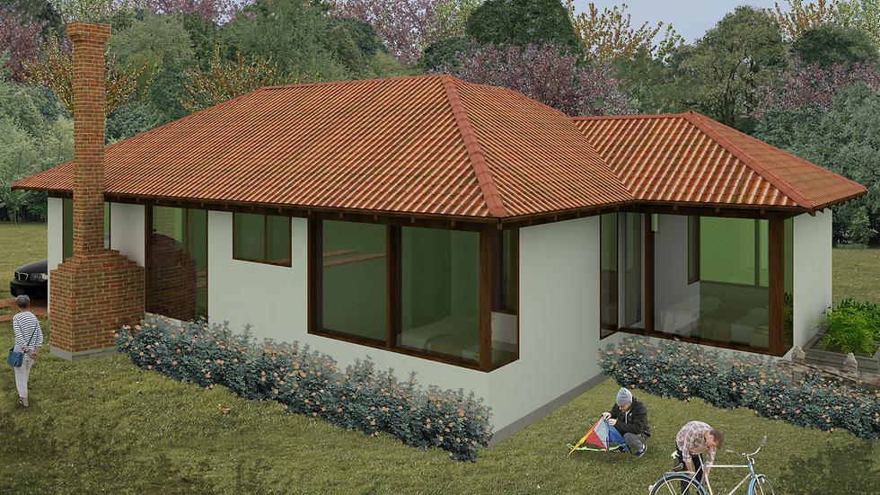 Bella casa campestre de 2 habitaciones, 3 baños y chimenea. 2Q3W-103