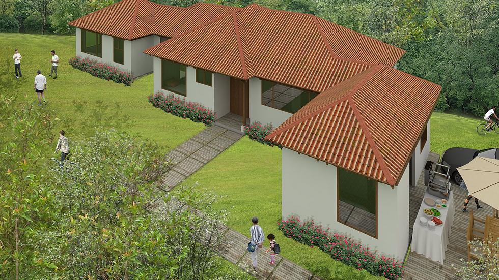 Iluminada casa de clima frio y medio con 4 habitaciones y 4 baños. 5QE-191