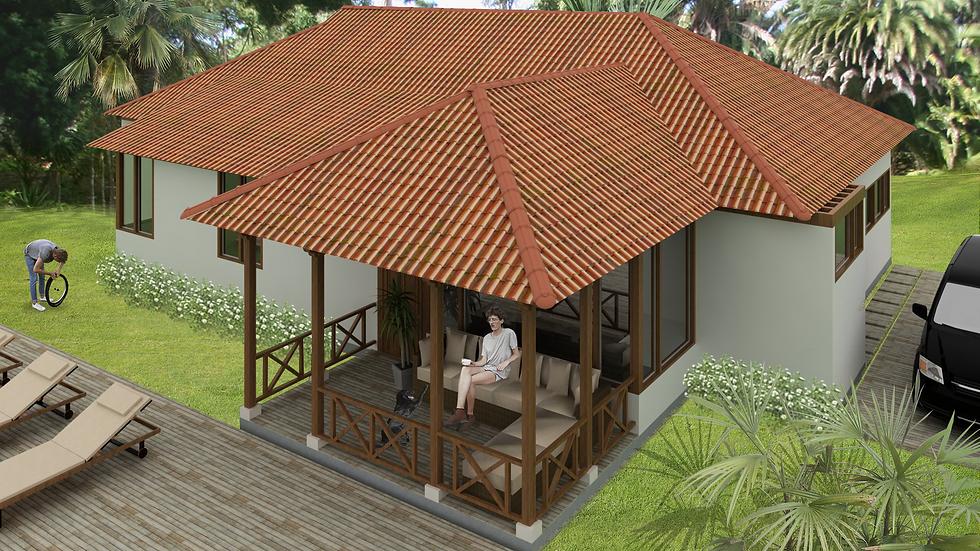 Preciosa casa con 3 habitaciones, 3 baños, terrazas y balcones.  3QE3W 164k