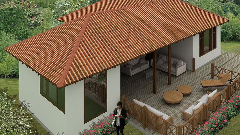 Agradable casa de 3 habitaciones, 3 baños y comedor con terraza! 3Q- 116-K