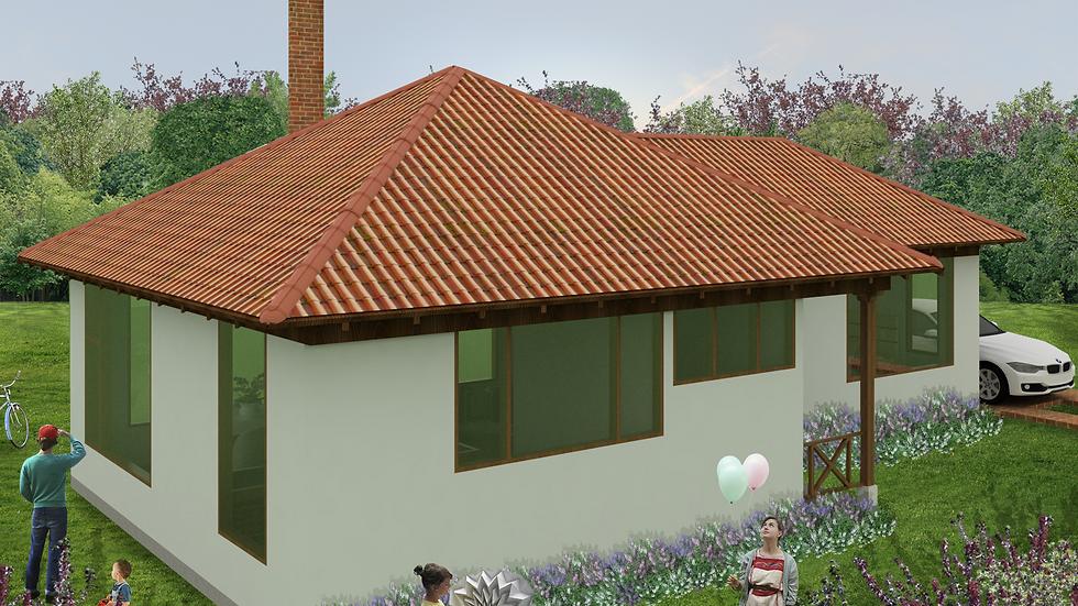 Cómoda casa con 1 alcoba, 1 baño, sala con chimenea y amplia cocina! 1Q-87
