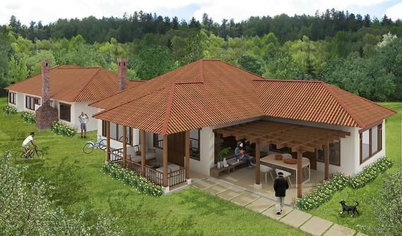 Casas campestres venta de planos constructora benhabitat for Planos de cabanas campestres