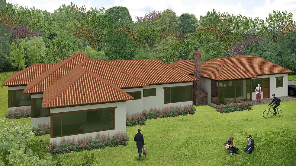 Amplia casa con 3 habitaciones, 3 baños y sala con chimenea. 5QE-248