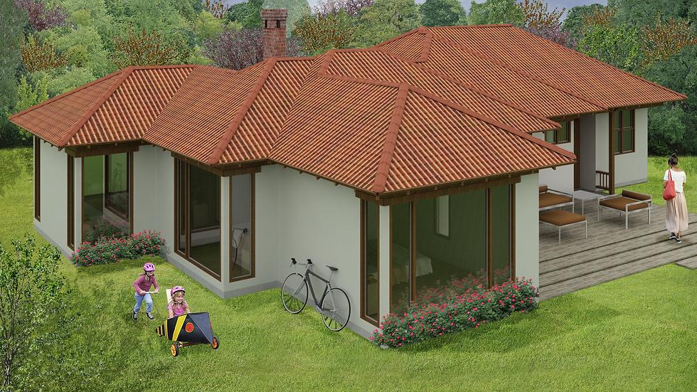 Acogedora casa con 3 habitaciones, 3 baños y chimenea. 4QE-164