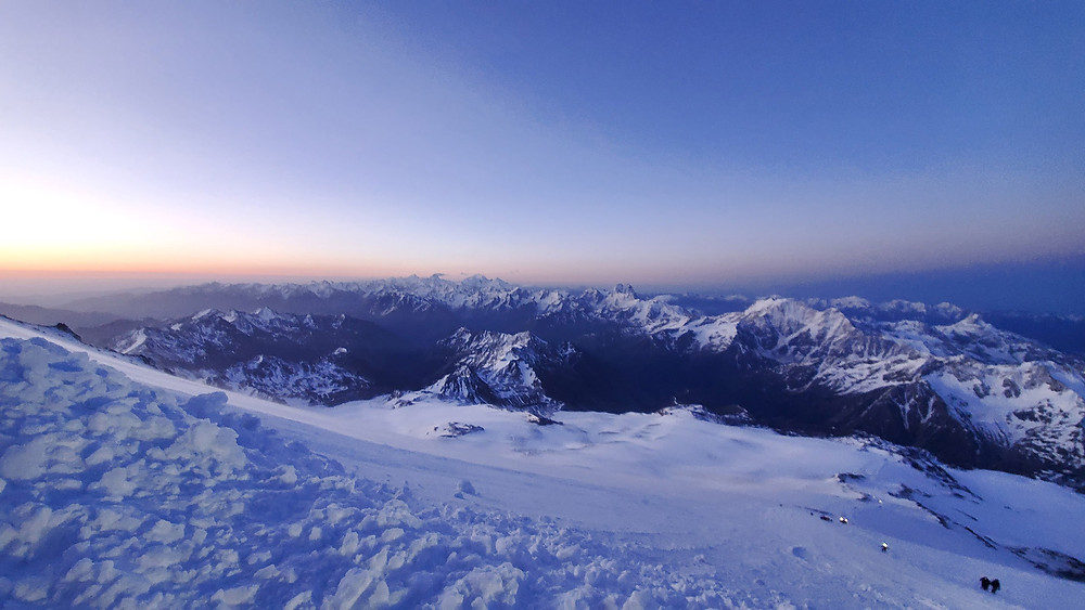 Photo taken fron Mt. Elbrus by Frank Routhier