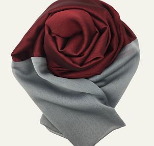 Chiffon Scarf (Cranberry-Silver)