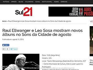 Sul21 - Raul Ellwanger e Leo Sosa mostra