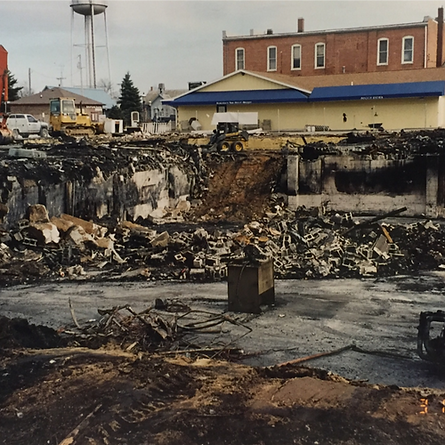 Davis Mercantile Fire