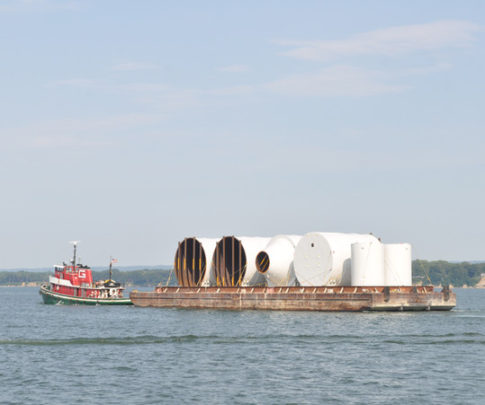 Field Assembled Storage Silo Shipping across Lake Erie