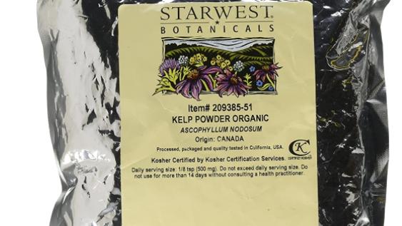 Starwest Botanicals Organic Kelp Powder, 1 Pound