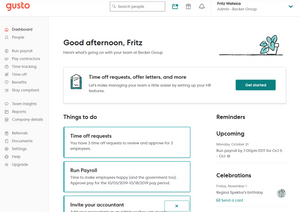 Gusto Platform, Bookkeeping for Dentists
