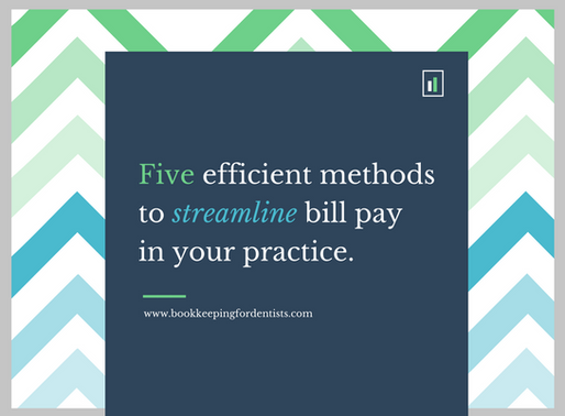 Five efficient methods to streamline bill pay in your dental practice.