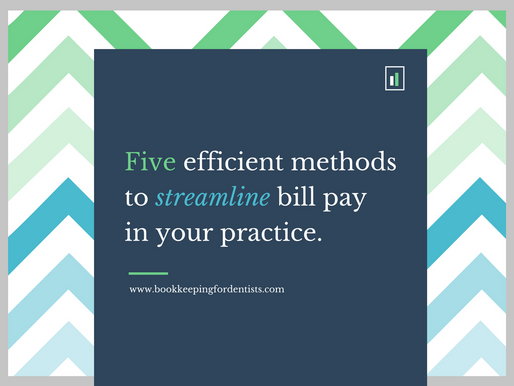 Five efficient methods to streamline paying bills in your dental practice.
