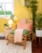 Yellow Eclectic Bedroom