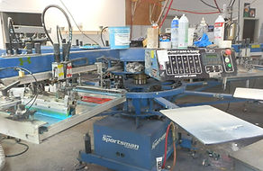 Sportsman automatic garment screen-printing press