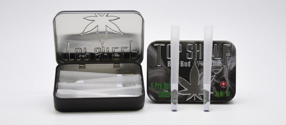 Custom Pre-roll Cones and Tin Container