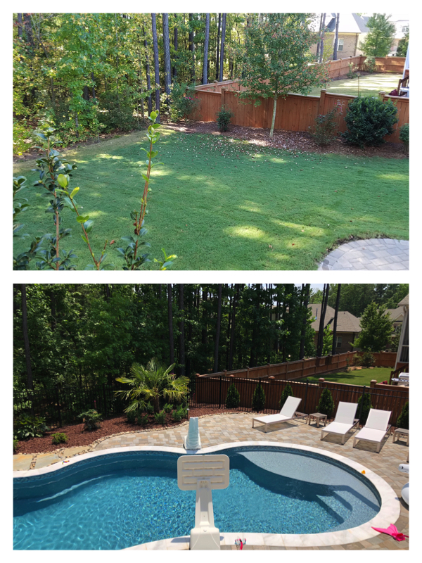 Pool Landscaping Cary NC