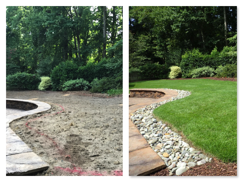 Sod Install North Hills raleigh nc Landscaping