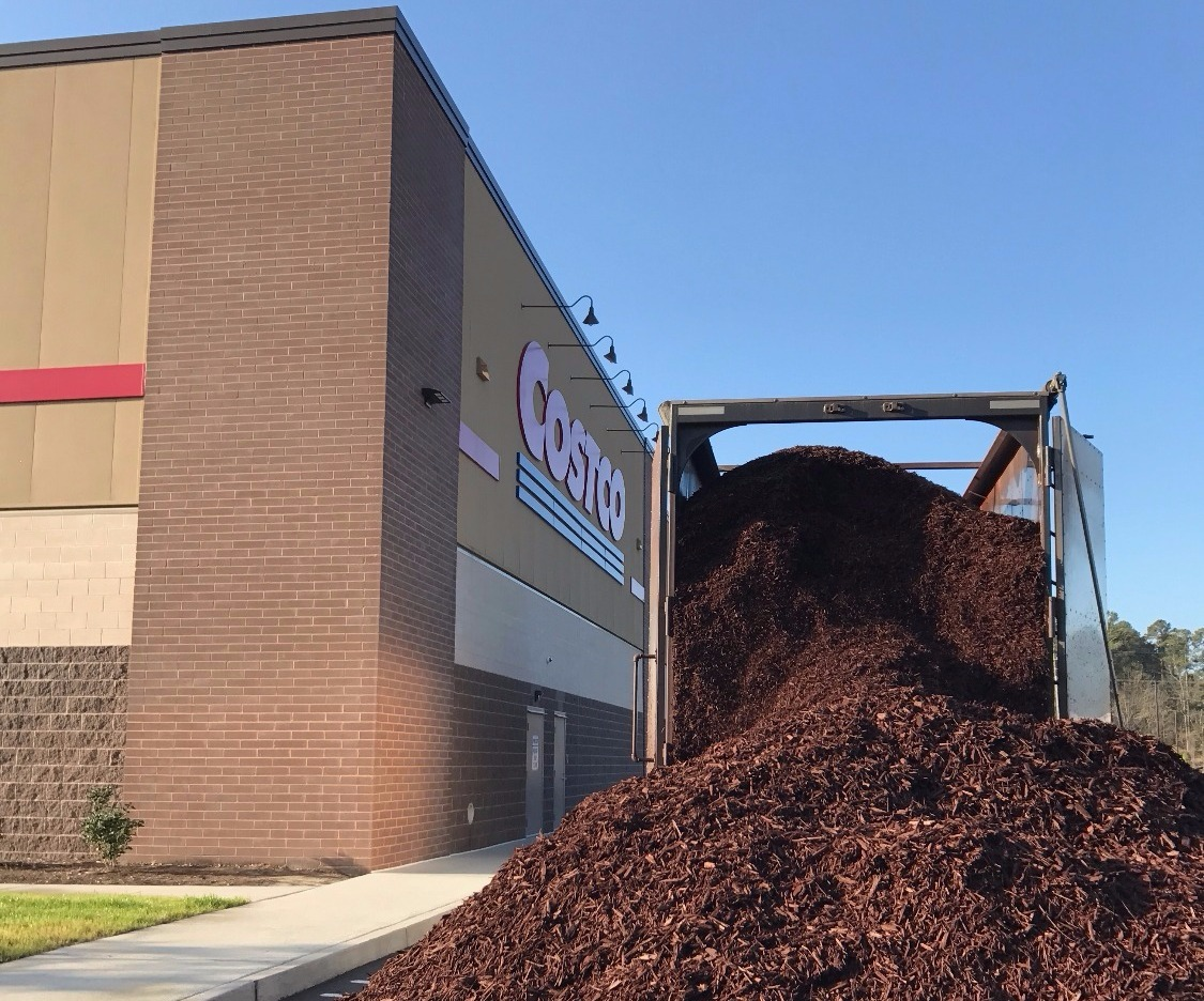 Costco Apex NC Landscaping Mulch Install