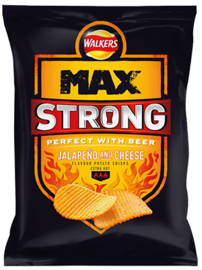 Walkers MAX Strong Jalepeno & Cheese