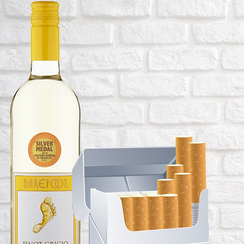House Wine & Cigs Package