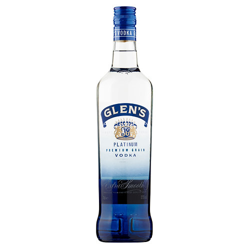 Glens platinum premium plain vodka 70cl