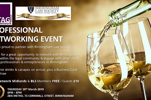 TAG Network in partnership with Birmingham Law Society