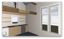 Alley Flat model interior