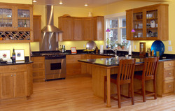 Kitchen Remodel with Custom Cherry Cabinets & Granite Counters.