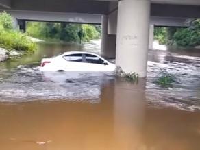 Enchente atinge área rural de Campina Grande do Sul