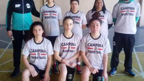 Time de basquete feminino do Colégio Timbu ganha experiência estadual