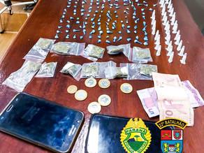 Trio é preso por tráfico de drogas em Colombo