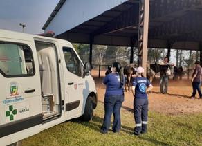 Denúncia: evento particular em Piraquara tem serviços de ambulância da Prefeitura de Quatro Barras