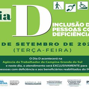 Campina terá Dia D para inclusão de pessoas com deficiência no mercado de trabalho