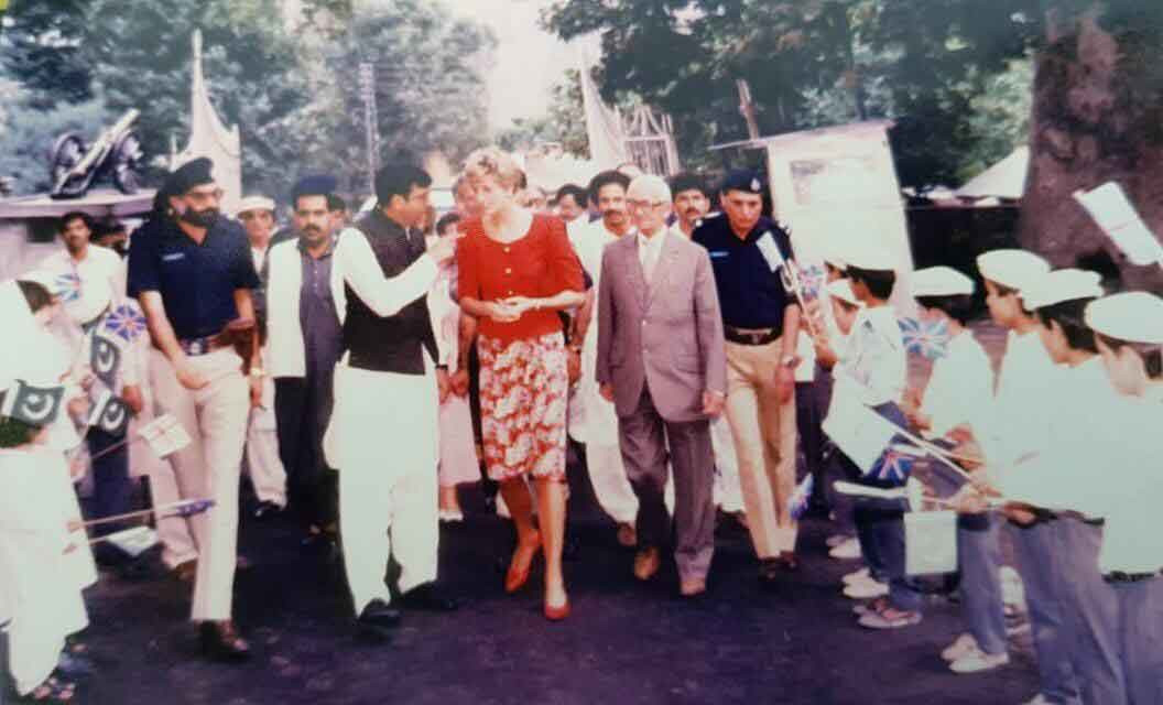 Princess Diana visiting Chitral in 1991.
