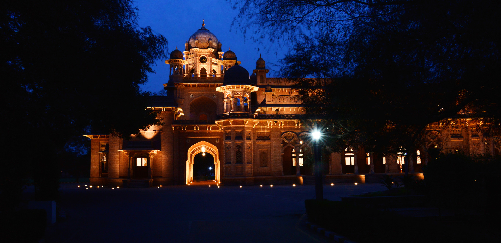 Aitchison College, Old Building at night.